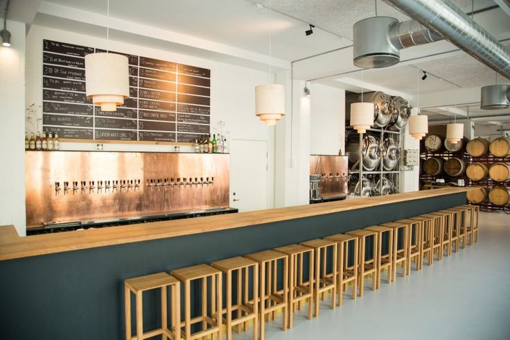 The brewery, which features a bar, shop and restaurant, is all dominated by oak.