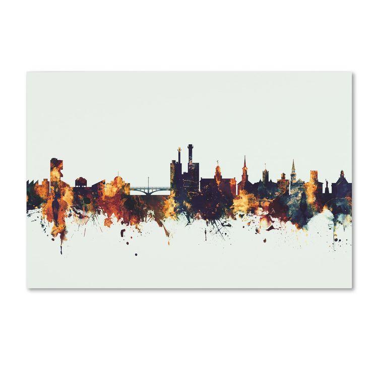 Michael Tompsett 'Iowa City Iowa Skyline V' Canvas Art