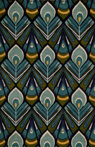 Hb-04 Peacock Rug from the Bauhaus Minimal Design Rugs I collection at Modern Area Rugs