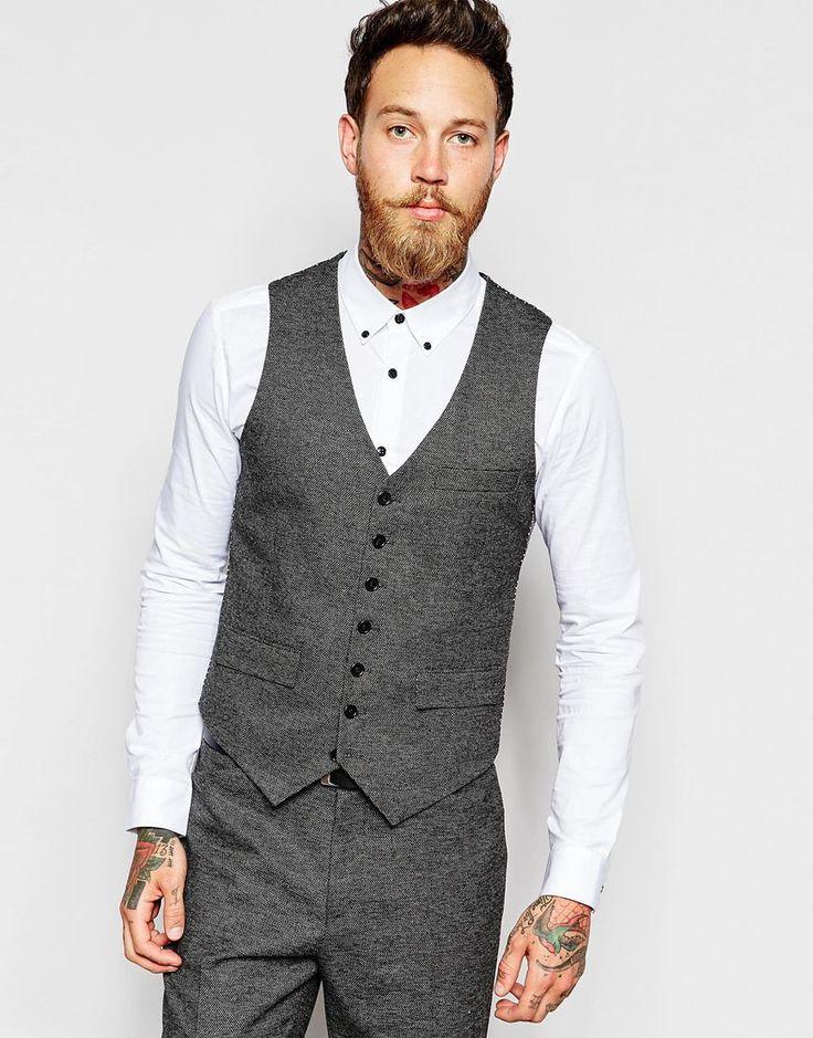 ASOS Slim Fit Suit In Birdseye fabric