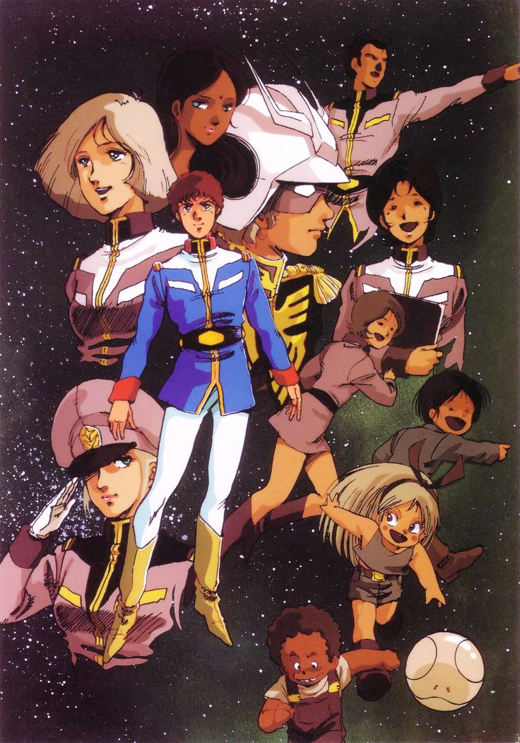 Universal Century, Mikimoto Haruhiko, Char Aznable, Official Art, Manga Color, Amuro Ray, Kobayashi Katz, Bright Noa, Sayla Mass, Lalah Sune