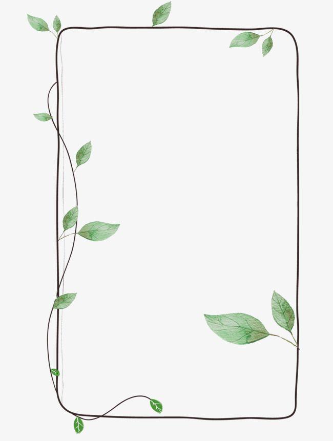 Frame Clipart Green Leaf Molduras Para Fotos Montagens Moldura Desenho Planos De Fundo
