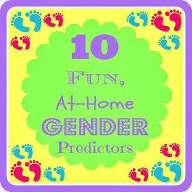 Huckleberry Love: 10 Fun, At-Home Gender Predictors