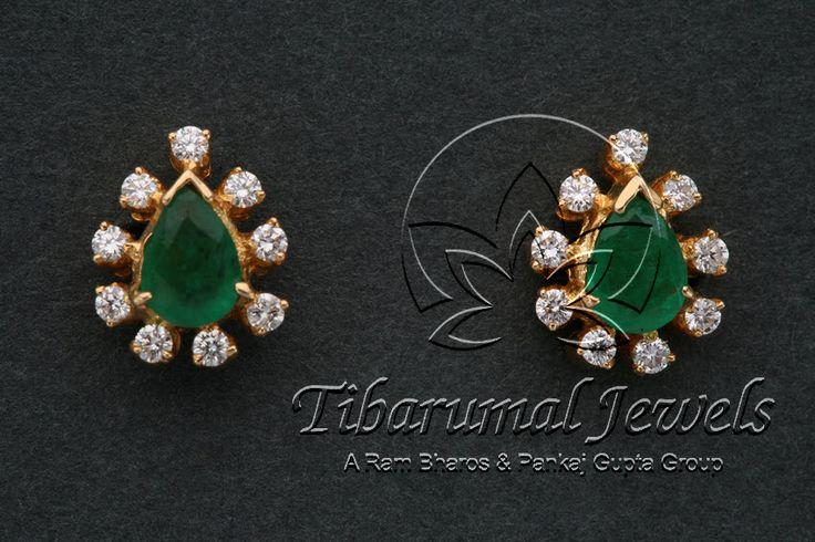Diamond Ear Tops | Tibarumal Jewels