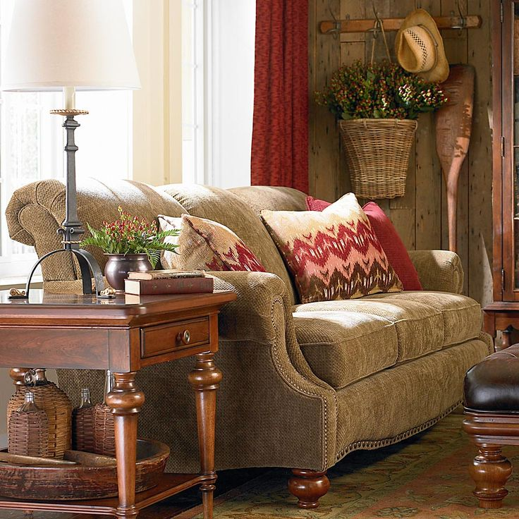 Oxford Leather Recliner With English Arm   Bassett Chairs, Recliners U0026  Ottomans
