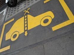 Spitalfields anti-parking spaces.
