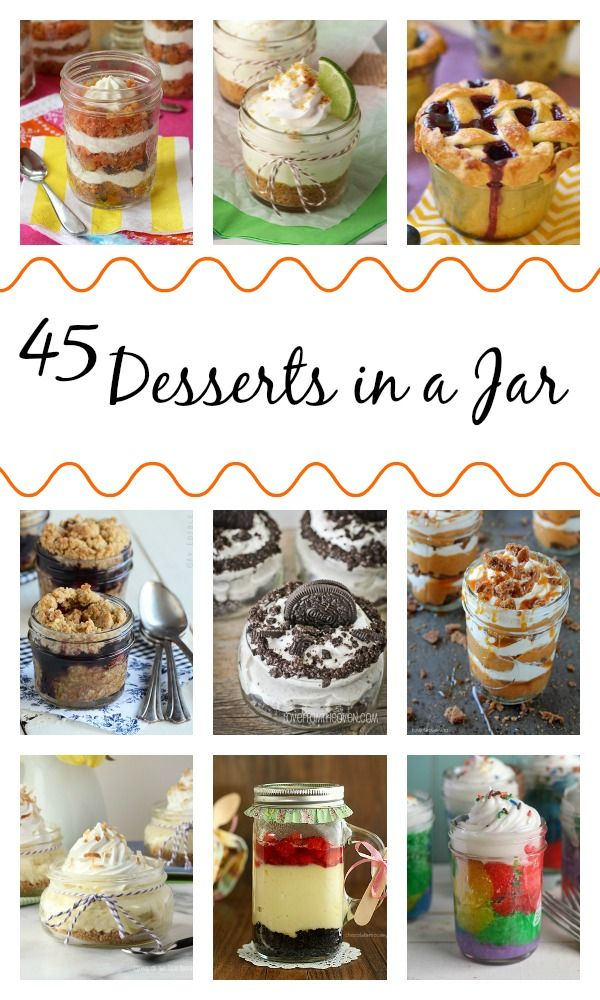 45 Desserts in a Jar - a delicious collection of fun, cute sweets  treats | cupcakesandkalechips.com |