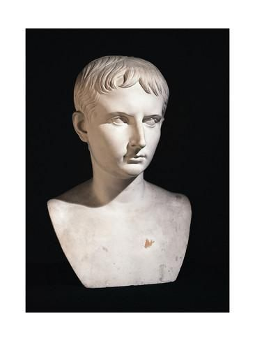 Bust of Julius Caesar as Boy, from Leiden, Netherlands B.C. Giclée-Druck bei AllPosters.de