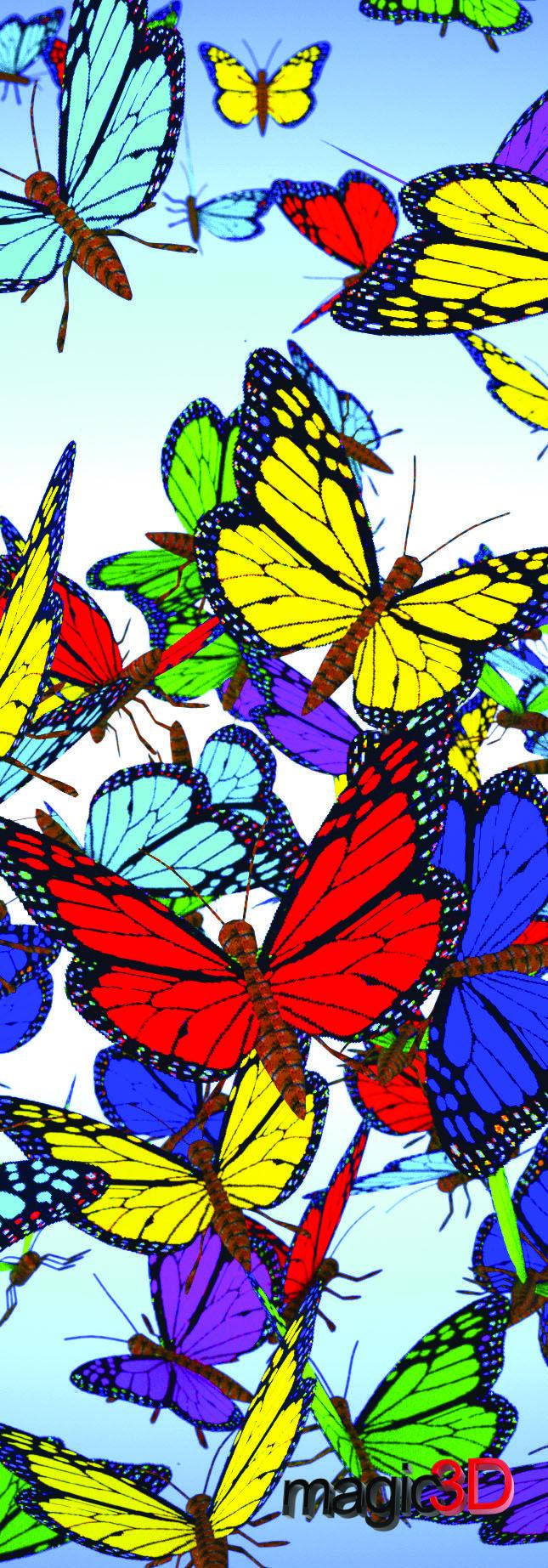 """Magic 3D Butterflies - Bookmark/6"""" Ruler #017"""