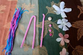 Pink and Green Mama: * EASY Kid Craft: Pipe Cleaner Flower Fairies