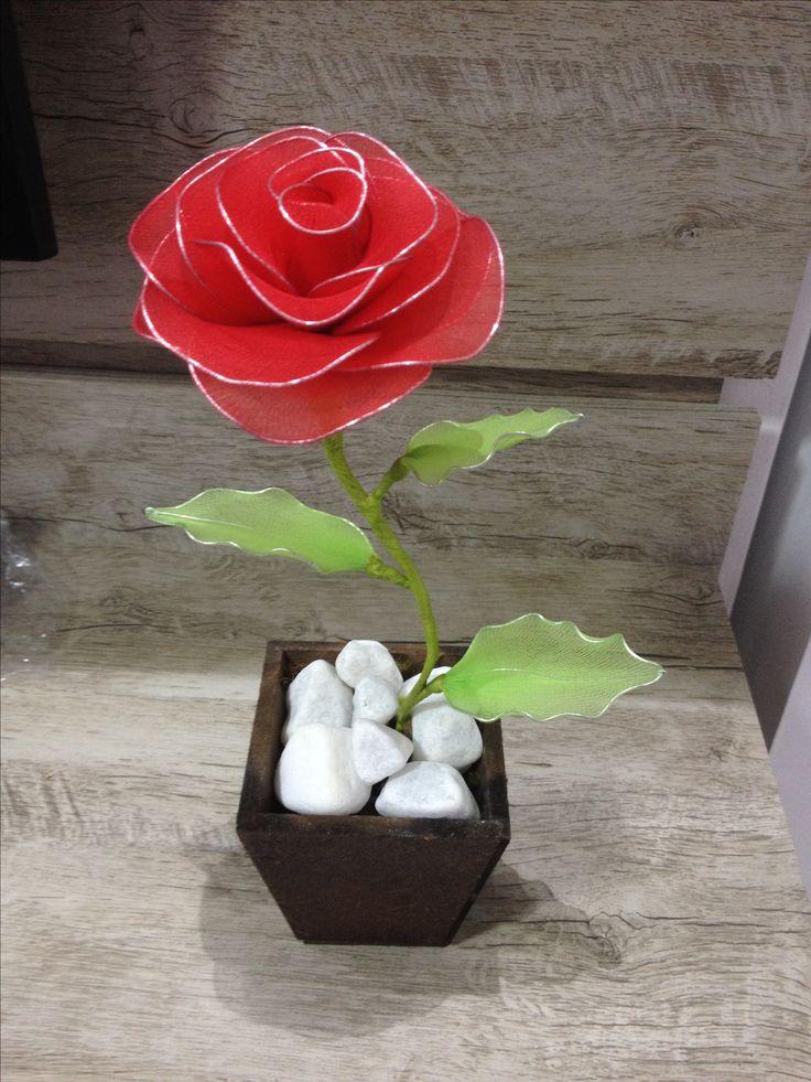 Rosa de meia de Seda