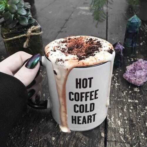 coffee, heart, and cold image