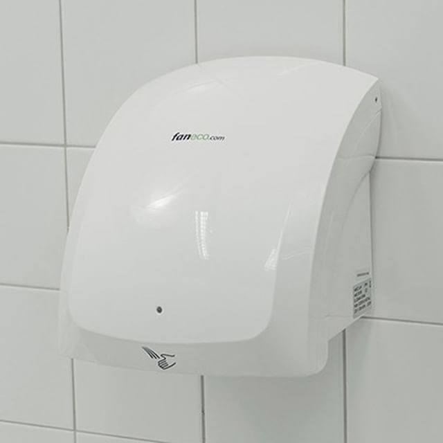 #Suszarka do rąk - obudowa: #plastik - zastosowanie: #toaleta #publiczna // #handdryer #publictoilet