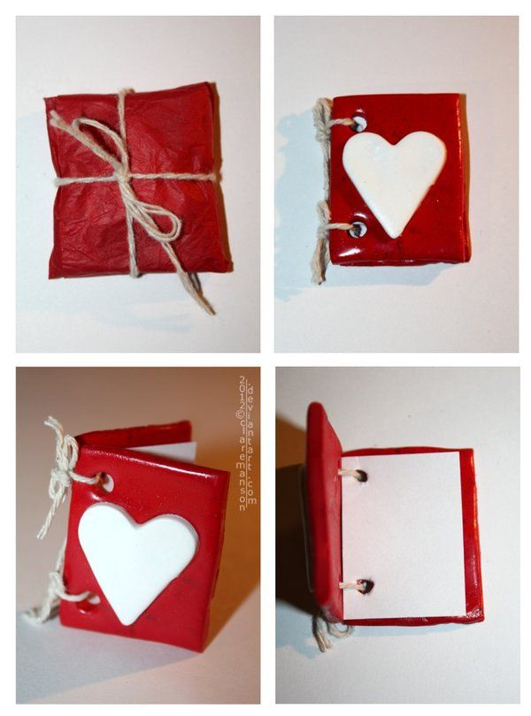 Mini Polymer Clay Valentines Day Card by =claremanson on deviantART