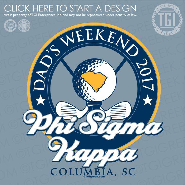 Phi Sigma Kappa | ΦΣK | Dad's Weekend | Dad's Day | TGI Greek | Greek Apparel | Custom Apparel | Fraternity Tee Shirts | Fraternity T-shirts | Custom T-Shirts