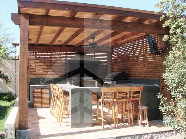 Comercialdominguez proyecto quincho microcemento casa las for Casa minimalista con quincho