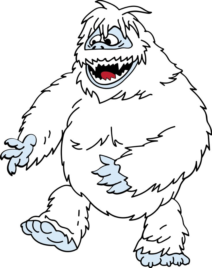 17 best images about abominable snowman bumble on for Rudolph the red nosed reindeer template