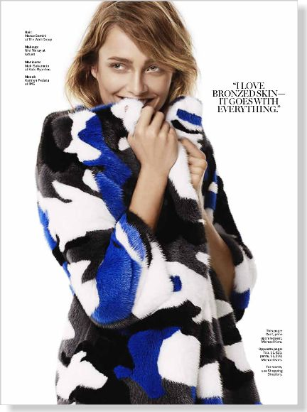 Fur is always in!    Esprit de Kors. Clipped from Marie Claire using Netpage.