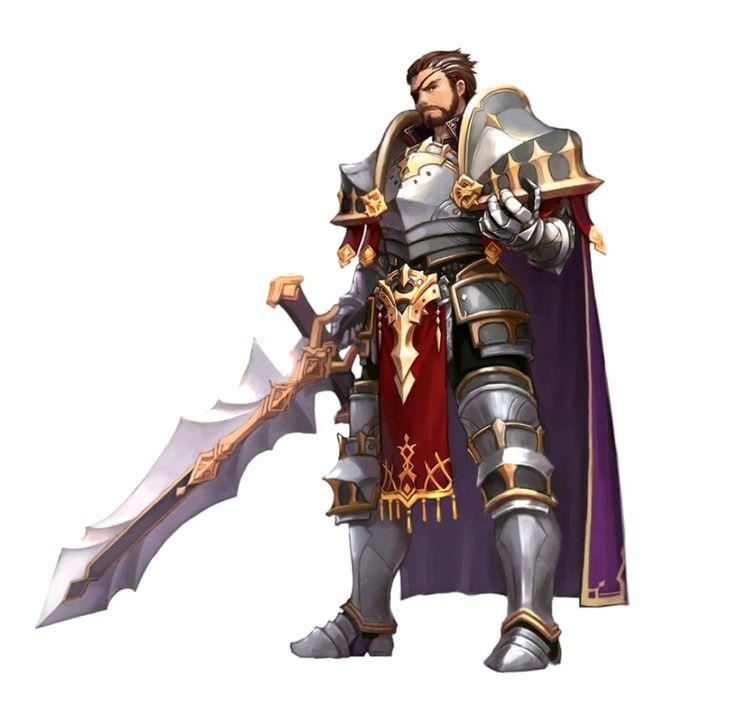 Male Human Paladin Knight - Pathfinder PFRPG DND D&D 3.5 5th ed d20 fantasy