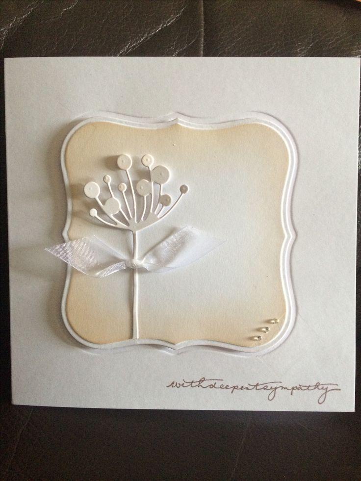 Sympathy card using spellbinders & memory box dies