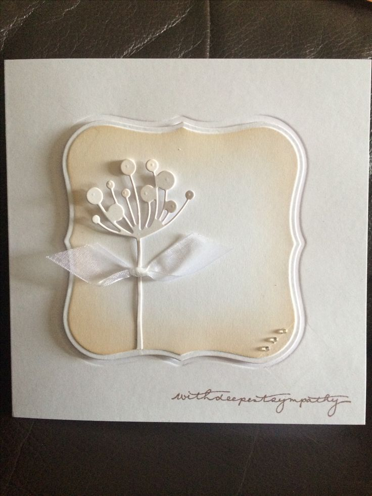 Sympathy card using spellbinders & memory box dies