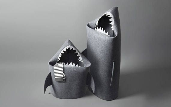 BABY SHARK felt kids toy storage basket  Toy storage Kids