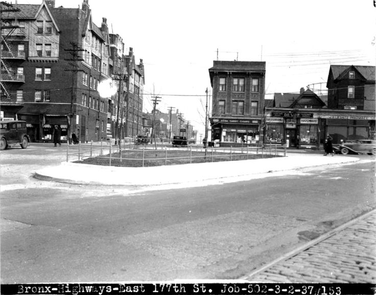 Castle Hill Avenue and (Originally East 177th Street) now the Cross Bronx Service Road (March 2nd 1937)