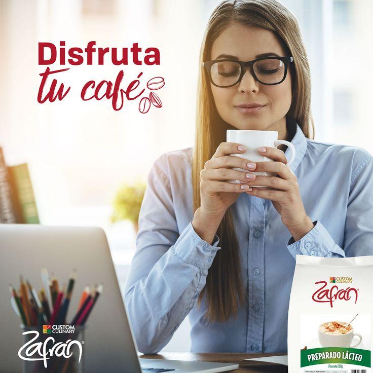 ¡Haz una pausa! Prepárate un café delicioso y suavecito con nuestro Preparado Lácteo Zafrán®. #productoszafran #universozafran