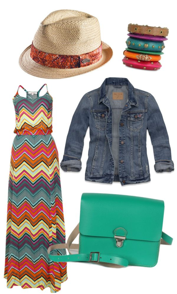 """Boho Chic: Summer"" by crcockrell on Polyvore. Everything but that hat...:"