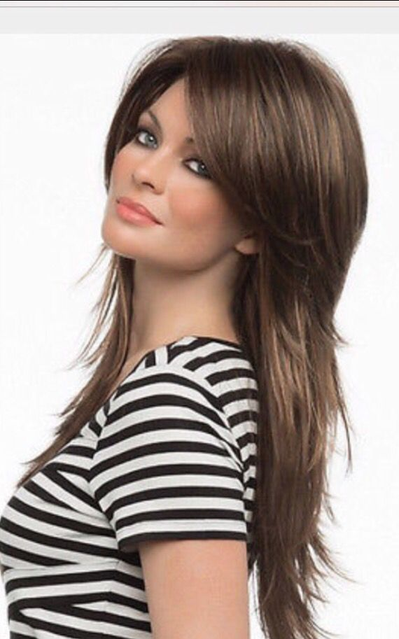 Long shag hairstyle