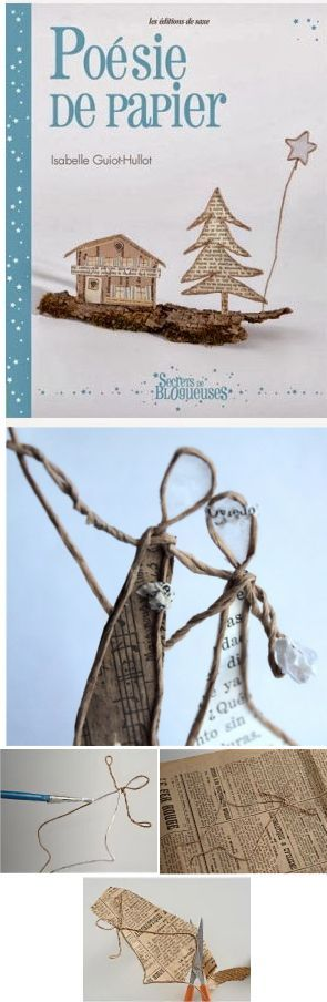 Livre pour apprendre à faire des petites sculptures de fil et papier