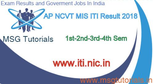 AP NCVT MIS ITI Result 2018 Declare Soon Check Online | MSG