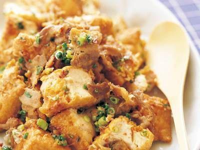 小林 まさみ さんの「ちぎり厚揚げと豚バラの和風炒め」。厚揚げと豚バラ肉を合わせるとボリュームも味も満足な一品に。 NHK「きょうの料理」で放送された料理レシピや献立が満載。