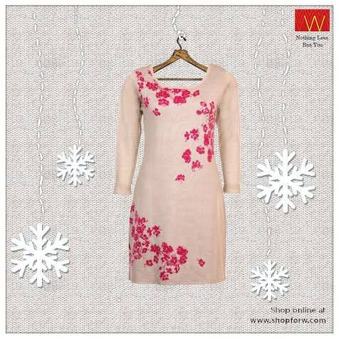 #Wcollection :http://www.shopforw.com/categoryProducts.php?catID=184&maincatName=Winter&smallCat=Winter%20Kurta  A beauteous kurta with a gorgeous floral pattern, that will brighten up your winter. When are you bringing this in your wardrobe?