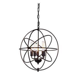 Elegant Lighting Vienna 8-Light Dark Bronze Pendant Lamp-1453D32DB - The Home Depot