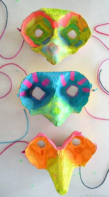 Make an Egg Carton Mask
