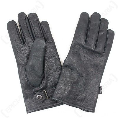 #German army style leather gloves - #military combat #black lined airsoft paintba,  View more on the LINK: 	http://www.zeppy.io/product/gb/2/182182455957/