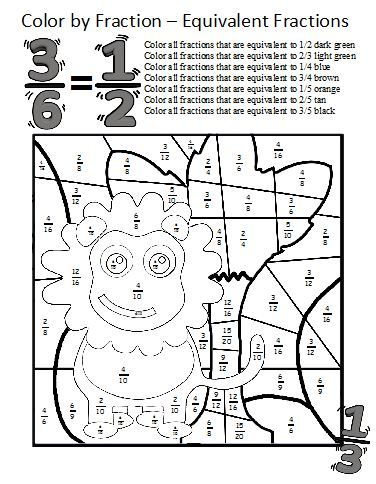 Math Coloring Pages 6th Grade : 134 best rekenen breuken images on pinterest