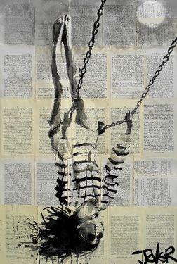 "Saatchi Online Artist Loui Jover; Drawing, ""flight"" #art"