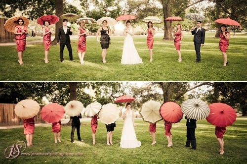 Bridal Party Umbrellas