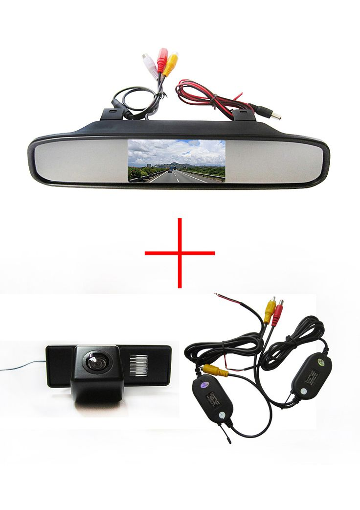 Wireless Color CCD Chip Car Rear View Camera for Mercedes Benz Vito / Mercedes Benz Viano +  4.3 Inch  rearview Mirror Monitor #Affiliate