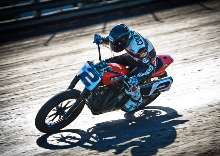 Harley-Davidson® Screamin' Eagle® Factory Team rider Kenny Coolbeth at the AMA Pro Harley-Davidson Insurance Grand National Championship event on the Knoxville Raceway half mile.