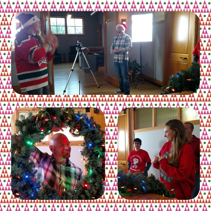 Oh. My. It's time to bust out the #uglychristmassweater for our our holiday card! Ho Ho Ho!