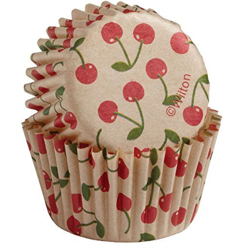 Wilton Baking Cups Mini 100Count Unbleached Cherry * Read more reviews of the product by visiting the link on the image.