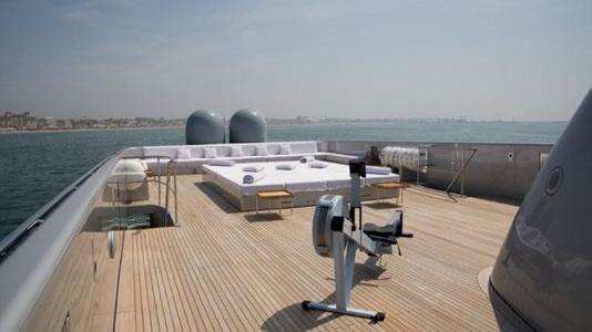 Blue Ice yacht sun deck - exterior design by Studio Cichero