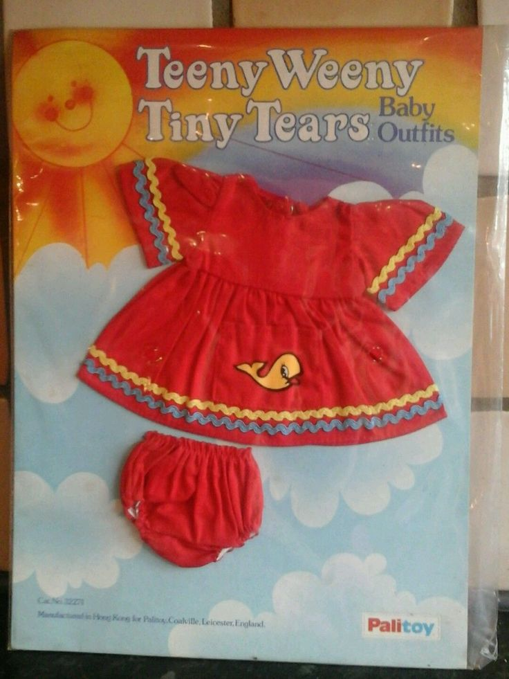 Vintage Teeny Weeny Tiny Tears Cotton Dress Outfit in Dolls & Bears, Dolls, Clothing & Accessories, Vintage Dolls | eBay