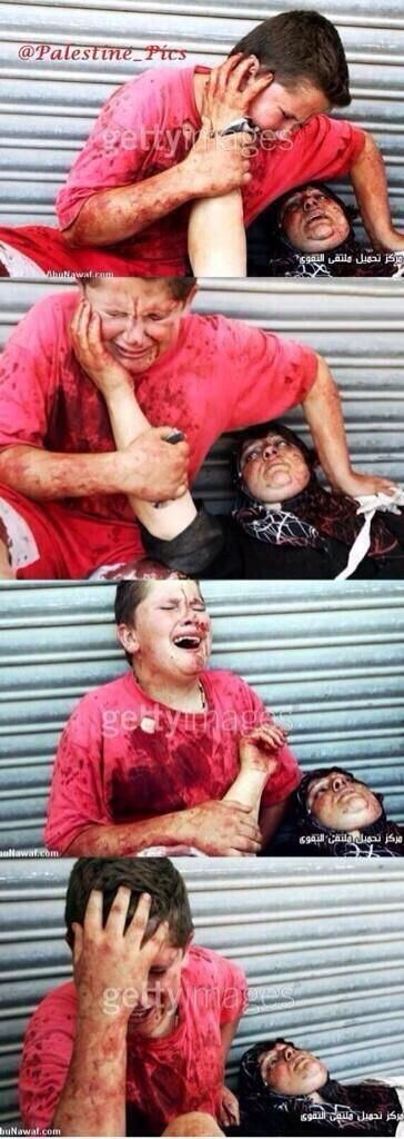 #GazaUnderAttack A mother dies in the arms of her son. A truly shell-shocking visual to take in ... I can't stop crying ... this madness must STPO, ISRAEL MUST STOP!!!!!!!!!! ... kd