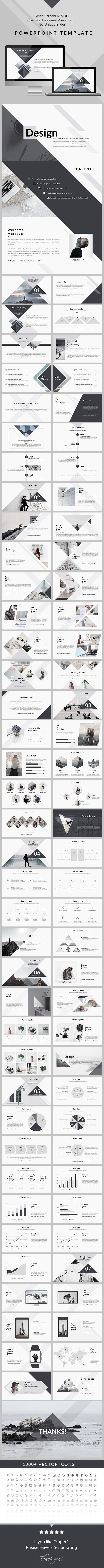 Design - Clean & Creative PowerPoint Presentation Template