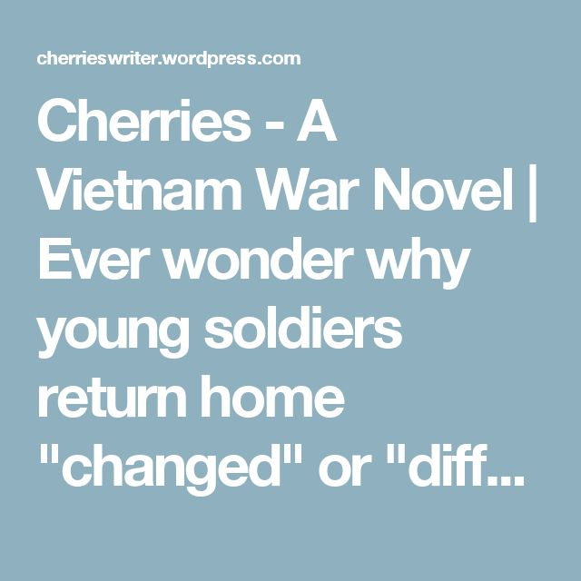 """Cherries - A Vietnam War Novel 