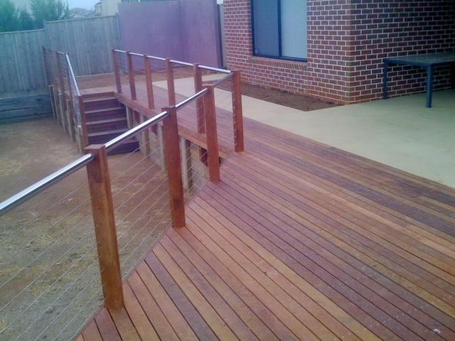 Outdoor Living  Alfresco  Deck  Balustrade  Stainless Steel Handrail